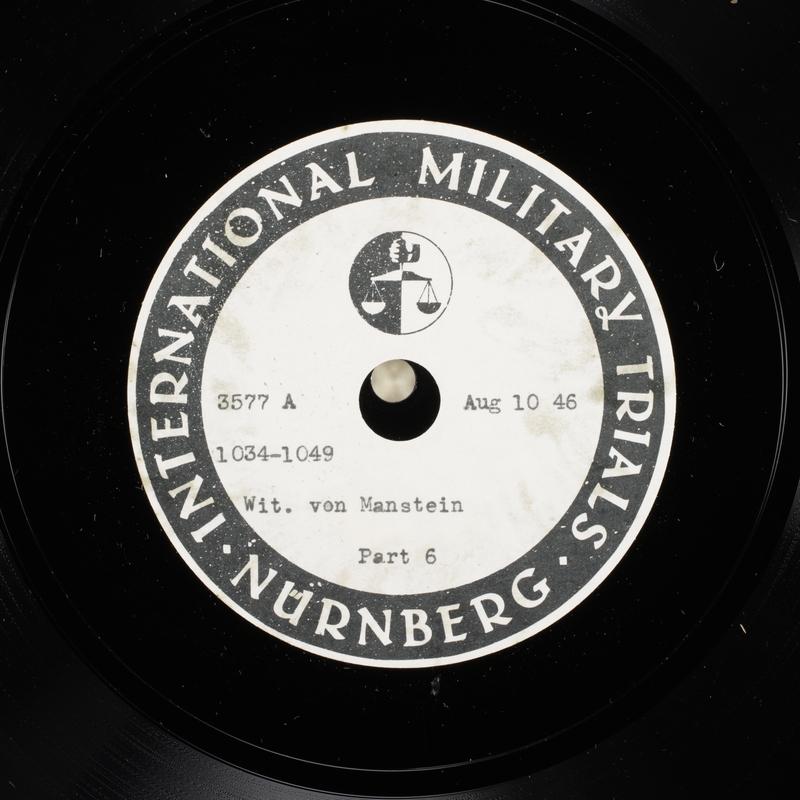 Day 200 International Military Tribunal, Nuremberg (Set A)