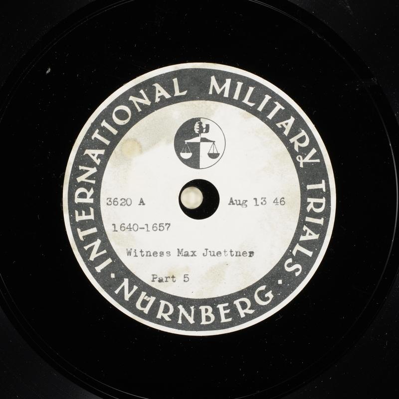 Day 202 International Military Tribunal, Nuremberg (Set A)