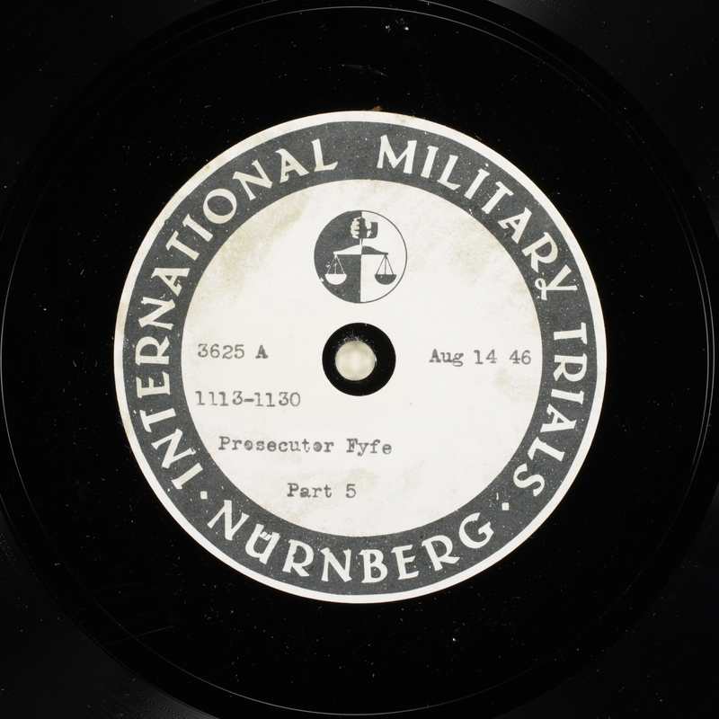 Day 203 International Military Tribunal, Nuremberg (Set A)