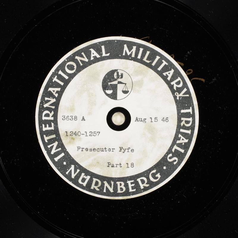 Day 204 International Military Tribunal, Nuremberg (Set A)