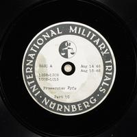 Day 204 International Military Tribunal, Nuremberg (Set A)  Click to enlarge