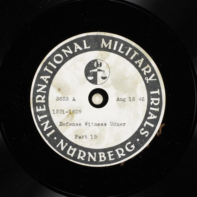 Day 205 International Military Tribunal, Nuremberg (Set A)