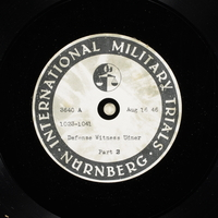 Day 205 International Military Tribunal, Nuremberg (Set A)  Click to enlarge
