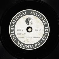 Day 206 International Military Tribunal, Nuremberg (Set A)  Click to enlarge