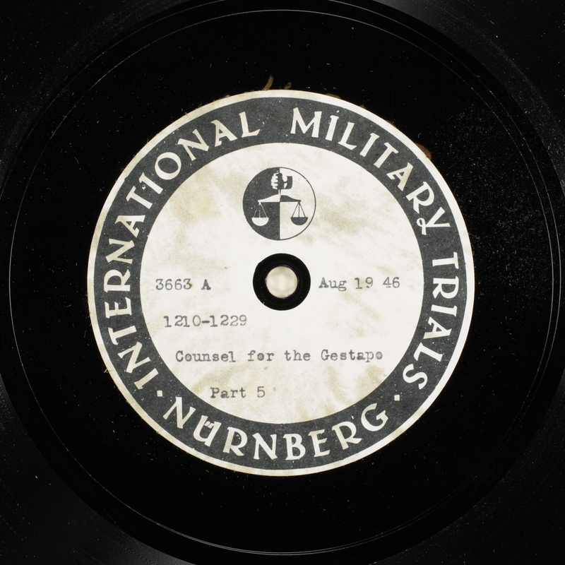 Day 206 International Military Tribunal, Nuremberg (Set A)