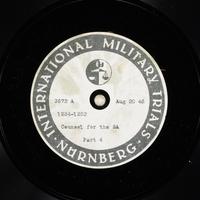 Day 207 International Military Tribunal, Nuremberg (Set A)  Click to enlarge