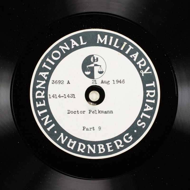 Day 208 International Military Tribunal, Nuremberg (Set A)