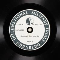 Day 209 International Military Tribunal, Nuremberg (Set A)  Click to enlarge