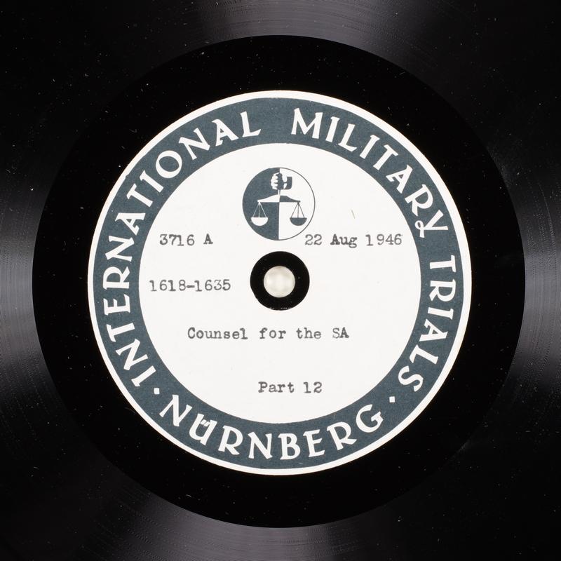 Day 209 International Military Tribunal, Nuremberg (Set A)