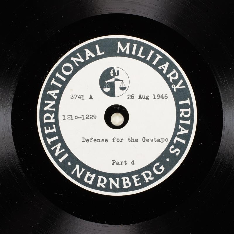 Day 211 International Military Tribunal, Nuremberg (Set A)