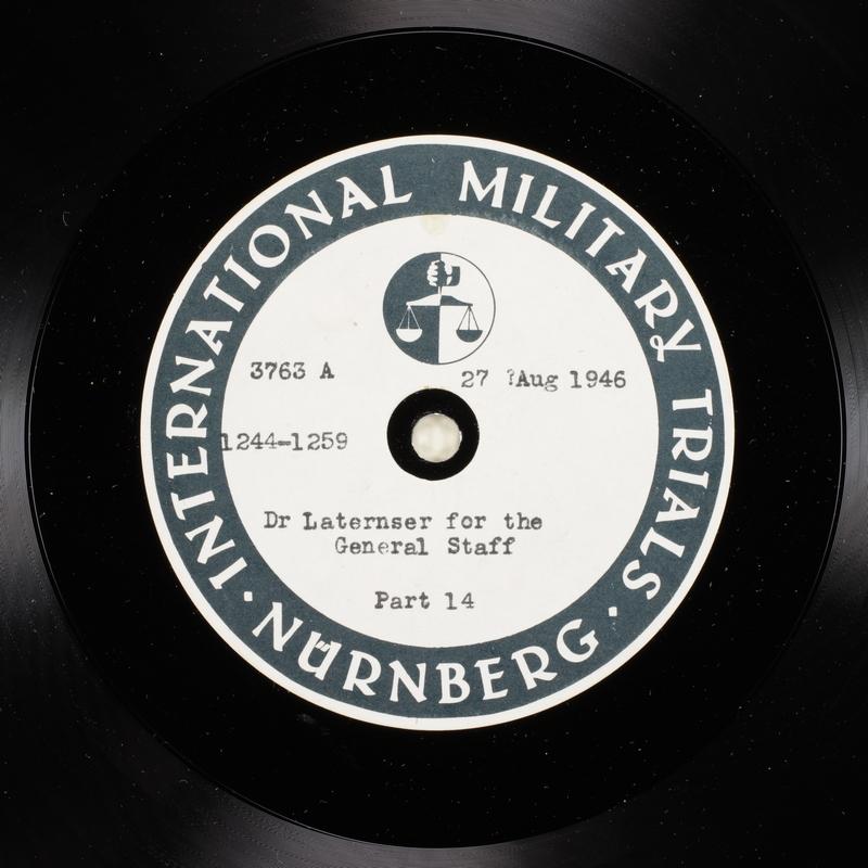 Day 212 International Military Tribunal, Nuremberg (Set A)