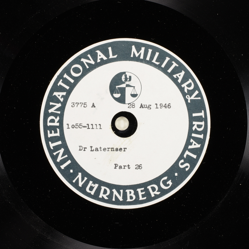 Day 213 International Military Tribunal, Nuremberg (Set A)