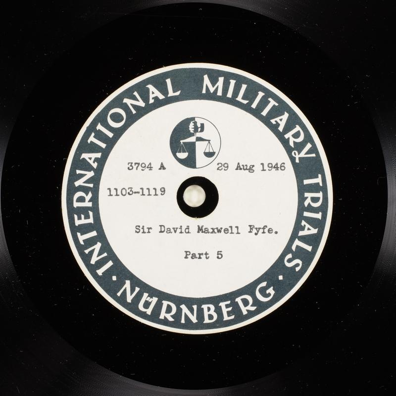Day 214 International Military Tribunal, Nuremberg (Set A)
