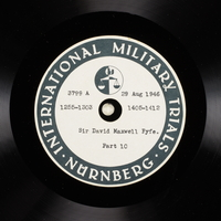 Day 214 International Military Tribunal, Nuremberg (Set A)  Click to enlarge