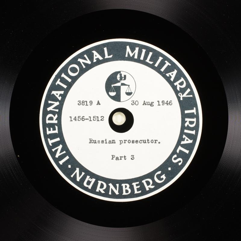 Day 215 International Military Tribunal, Nuremberg (Set A)
