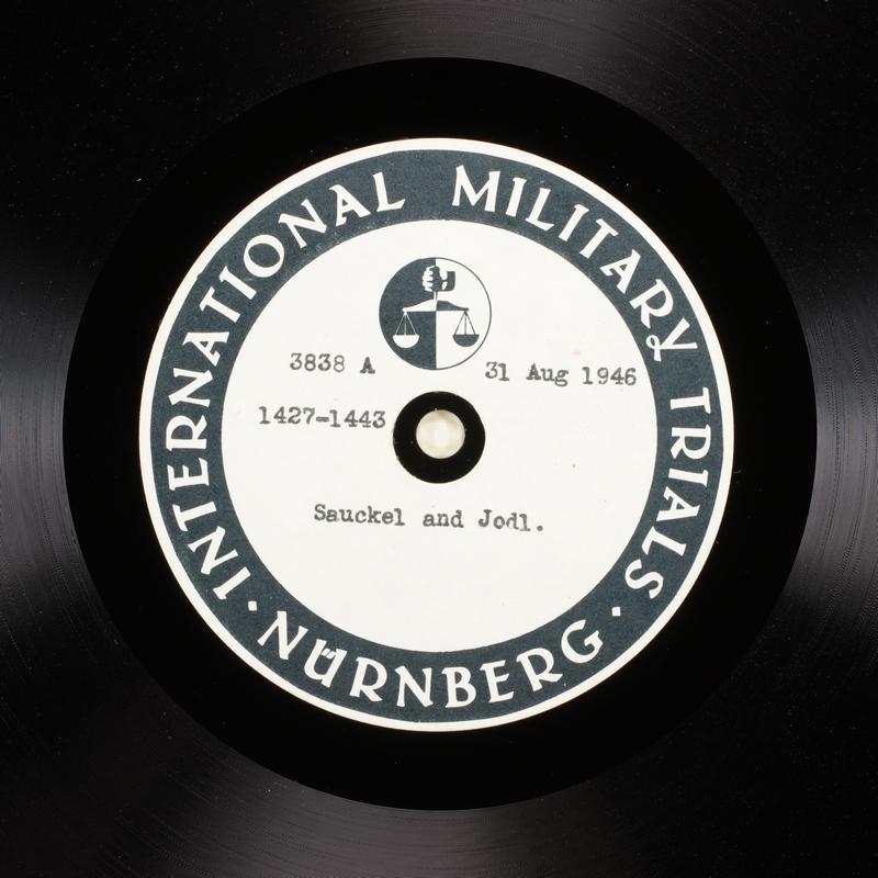 Day 216 International Military Tribunal, Nuremberg (Set A)