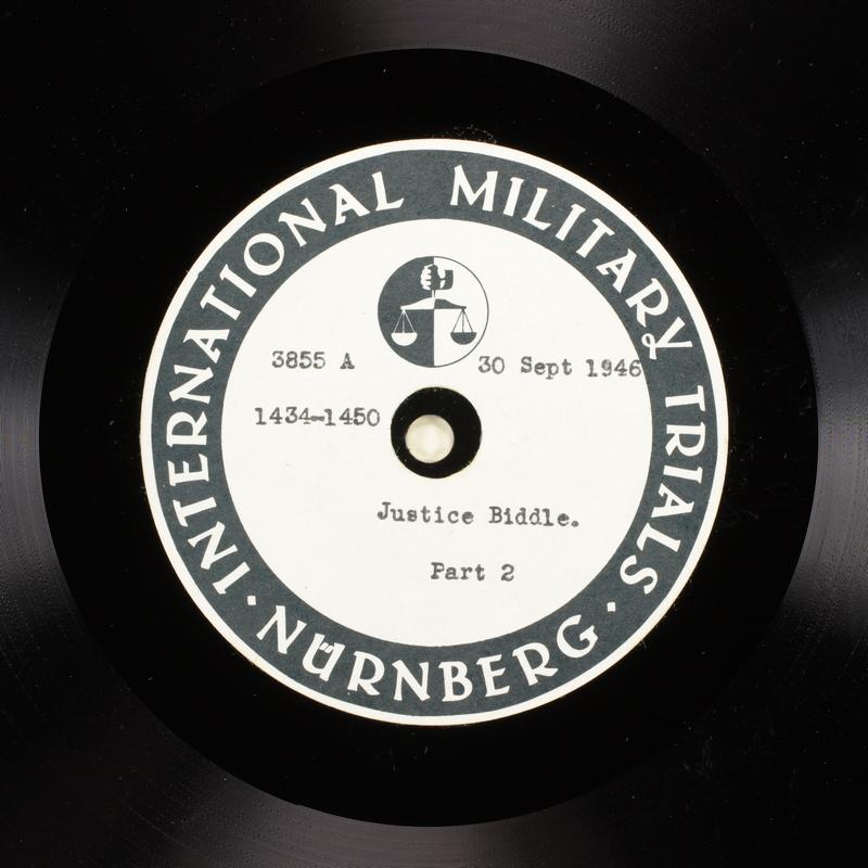 Day 217 International Military Tribunal, Nuremberg (Set A)