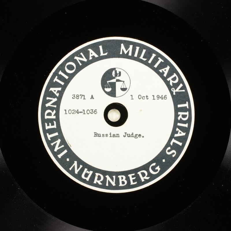 Day 218 International Military Tribunal, Nuremberg (Set A)