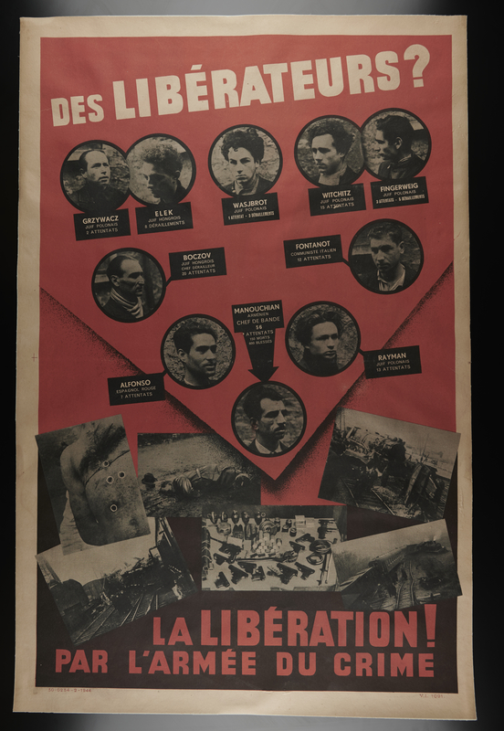 1993.120.1 front Political poster of the French resistance group Manouchian network