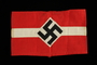 Nazi armband with white stripe and swastika taken from the body of a dead German soldier by an American soldier