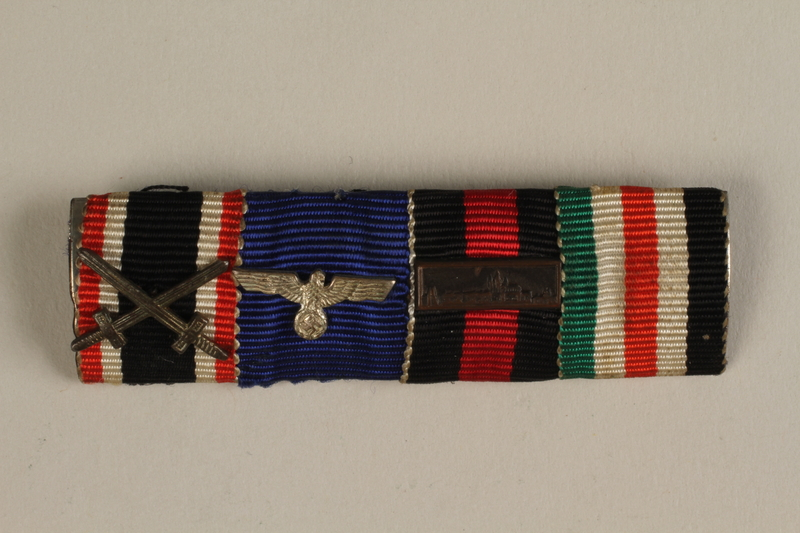 1993.151.2_b front WWII Iron Cross 2nd Class medal taken from the body of a dead German soldier by an American soldier