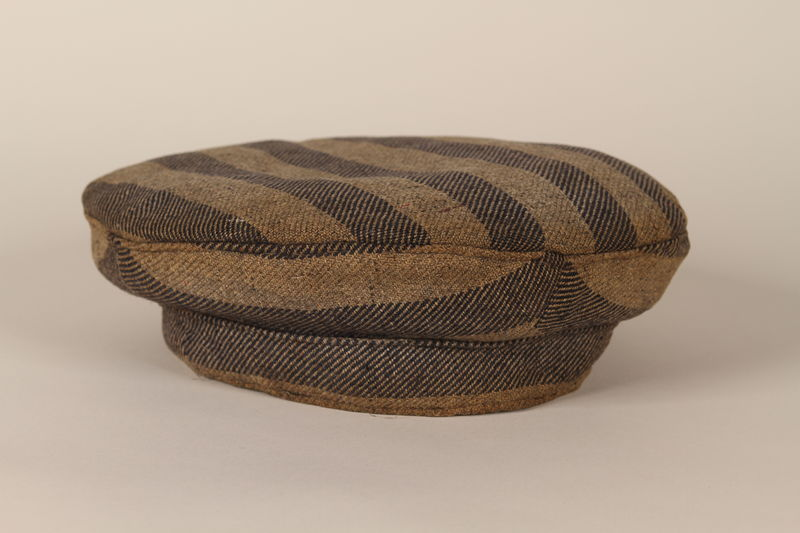 1993.159.3 front Concentration camp uniform cap worn by a Polish Jewish inmate