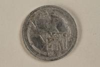 1993.159.4 back Łódź (Litzmannstadt) ghetto scrip, 10 mark coin  Click to enlarge