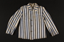 Concentration camp inmate uniform jacket issued in Auschwitz