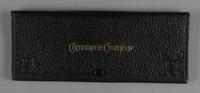 2012.455.9 front Black Certificate of Citizenship document case belonging to German Jewish prewar emigre  Click to enlarge