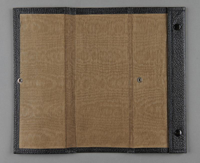2012.455.9 open Black Certificate of Citizenship document case belonging to German Jewish prewar emigre