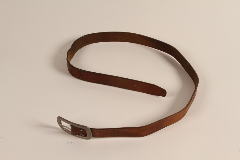 1993.167.1_d front Belt for gun used by Bosnian partisan during the Holocaust