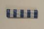 Blue and white striped ribbon bar for a Yugoslavian partisan