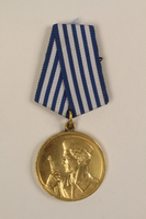 1993.167.6 front Medalja za Hrabrost awarded to a Yugoslavian partisan  Click to enlarge