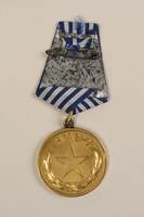 1993.167.6 back Medalja za Hrabrost awarded to a Yugoslavian partisan  Click to enlarge