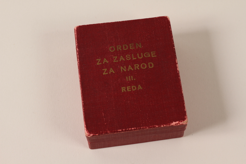 1993.167.8_c front Orden Zasluge Za Narod 3rd class awarded to a Yugoslavian partisan