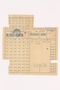 Theresienstadt ghetto-labor camp food ration coupon used by a female inmate