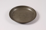 Shallow pewter bowl with etched Hebrew owned by a German Jewish prewar emigre