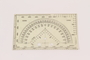 Military protractor with map coordinators used by German Jewish US soldier