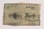 Łódź (Litzmannstadt) ghetto scrip, 1 mark note, owned by a Polish Jewish internee