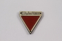 Commemorative red triangle Dachau badge 158831 owned by former inmate