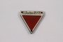 Commemorative red triangle Dachau badge 85173 owned by former inmate