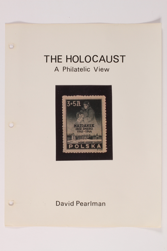 1993.21.1 front Album that contained a collection of Holocaust related postage stamps
