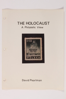 1993.21.1 front Album that contained a collection of Holocaust related postage stamps  Click to enlarge