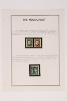 1993.21.1 page 3 front Album that contained a collection of Holocaust related postage stamps  Click to enlarge