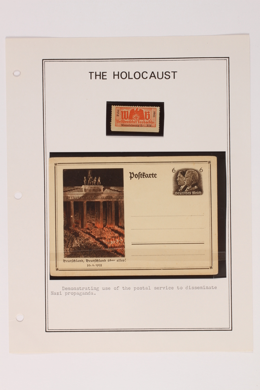 1993.21.1 page 5 front Album that contained a collection of Holocaust related postage stamps