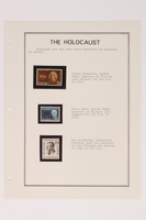 1993.21.1 page 6 front Album that contained a collection of Holocaust related postage stamps  Click to enlarge