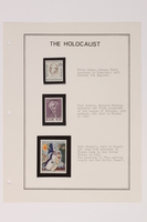 1993.21.1 page 7 front Album that contained a collection of Holocaust related postage stamps  Click to enlarge