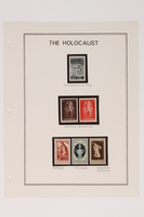 1993.21.1 page 11 front Album that contained a collection of Holocaust related postage stamps  Click to enlarge
