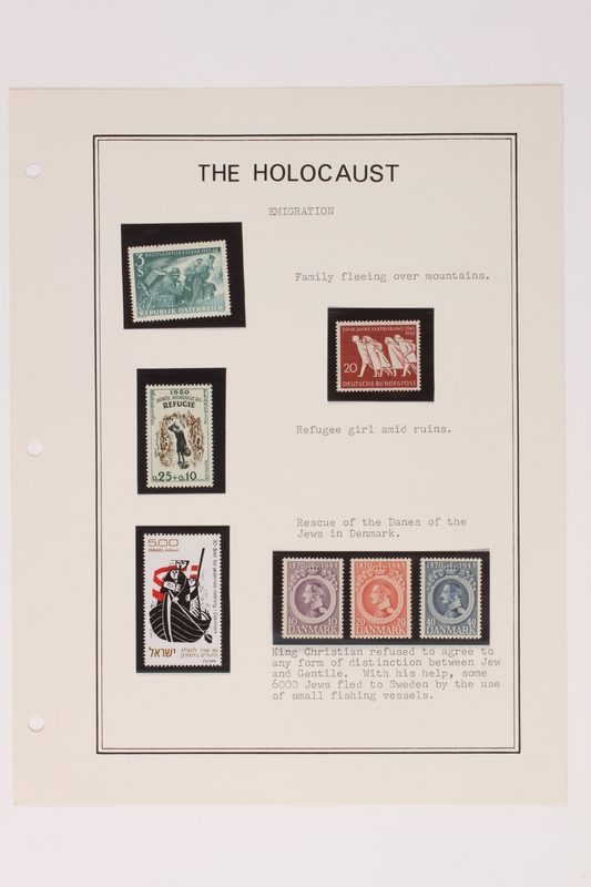 1993.21.1 page 8 front Album that contained a collection of Holocaust related postage stamps