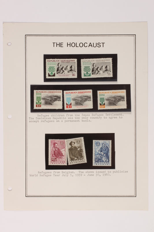 1993.21.1 page 9 front Album that contained a collection of Holocaust related postage stamps